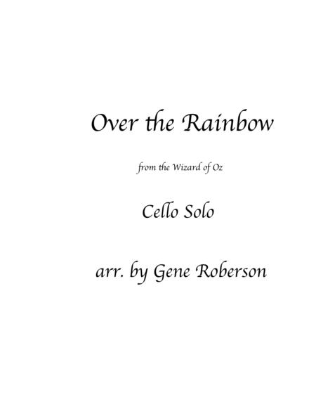 Over The Rainbow Cello Solo with Piano (from The Wizard Of Oz)