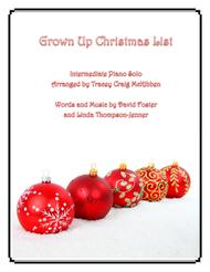 Grown-Up Christmas List (Piano Solo)