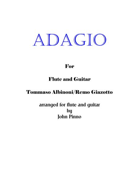 Adagio (Albinoni/Giazotto - arr. Pinno for flute [or alto recorder] and classical guitar)