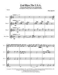 God Bless The U.S.A. for Flute Quartet