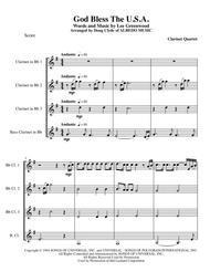 God Bless The U.S.A. for Clarinet Quartet