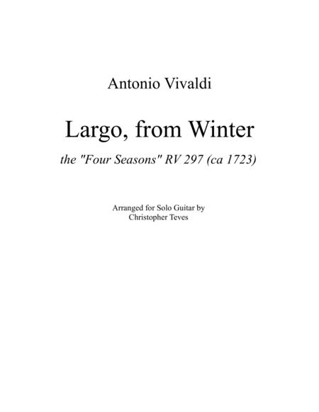 Largo from Winter, guitar solo