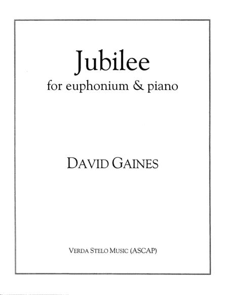 Jubilee for euphonium and piano