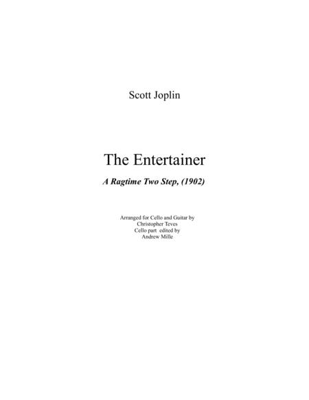 The Entertainer, A Ragtime Two Step, for cello and guitar