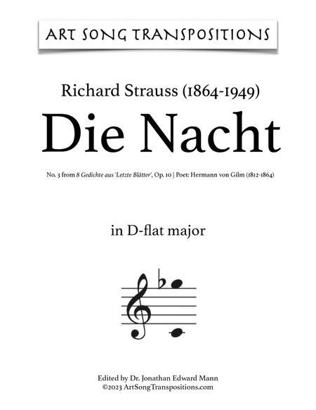 Die Nacht, Op. 10 no. 3 (D-flat major)