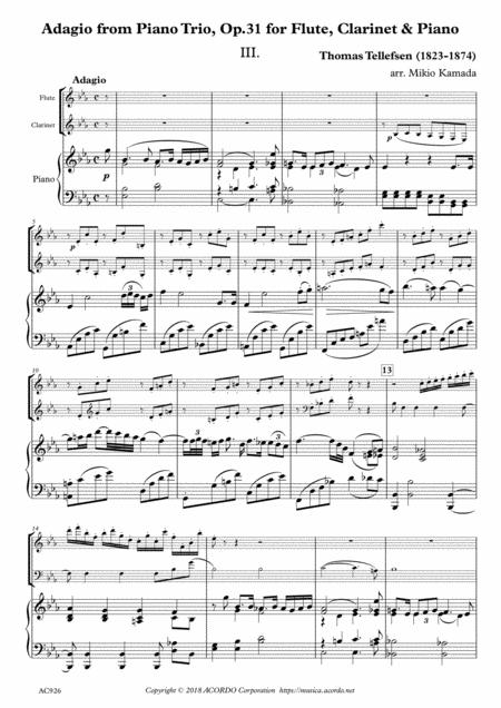 Adagio from Piano Trio, Op.31 for Flute, Clarinet & Piano
