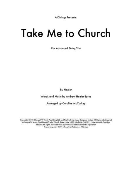 Take Me To Church - String Trio (Violin, Viola and Cello)