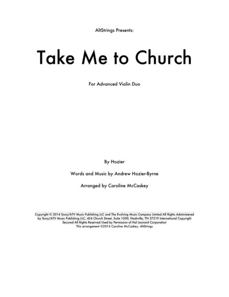 Take Me To Church - Violin Duet