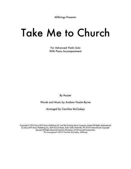 Preview Take Me To Church - Violin Solo, Piano Accompaniment By