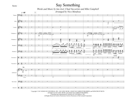 Say Something (arranged for percussion ensemble)