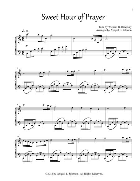 Sweet Hour of Prayer - Piano Solo