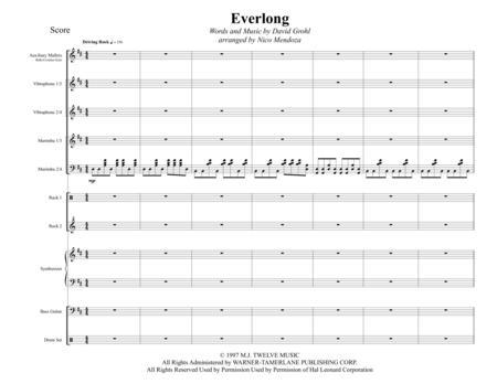 Everlong (arranged for percussion ensemble)