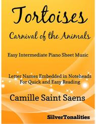 Tortoises Carnival of the Animals Easy Intermediate Piano Sheet Music