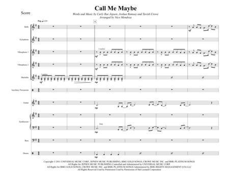 Call Me Maybe (arranged for percussion ensemble)
