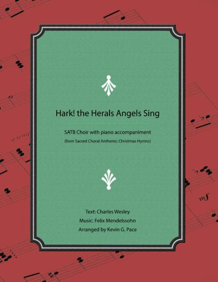 Hark! The Herald Angels Sing - SATB Choir with piano accompaniment