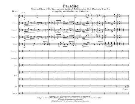 Paradise (arranged for percussion ensemble)