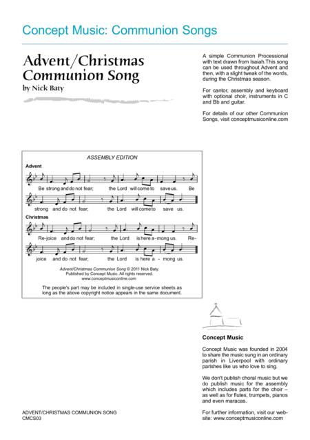 Advent/Christmas Communion Song