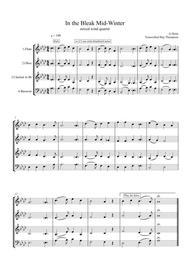Holst: In the Bleak Midwinter - mixed woodwind quartet