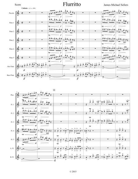 Flurrito (for Flute Choir)