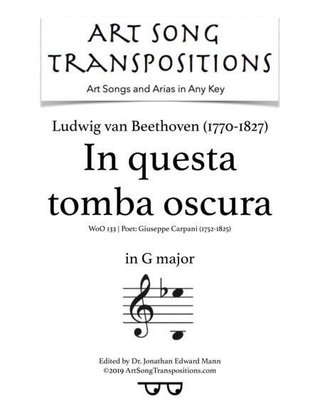In questa tomba oscura, WoO 133 (transposed to G major)