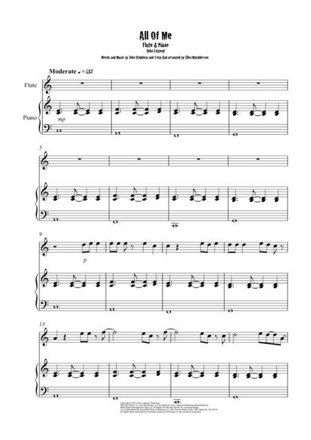 All Of Me / John Legend / Flute & Piano