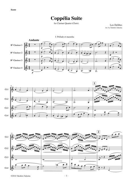 Coppelia Suite for Clarinet Quartet