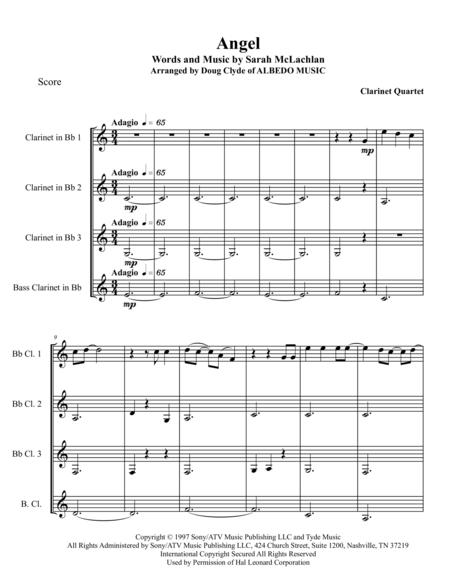 Angel for Clarinet Quartet