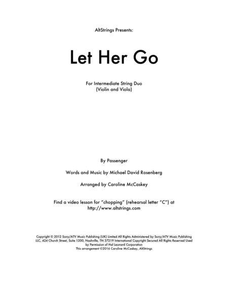Let Her Go - Violin and Viola Duet
