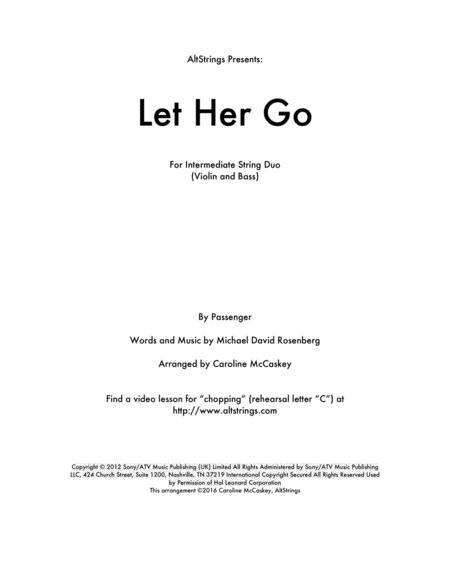 Let Her Go - Violin and Double Bass Duet