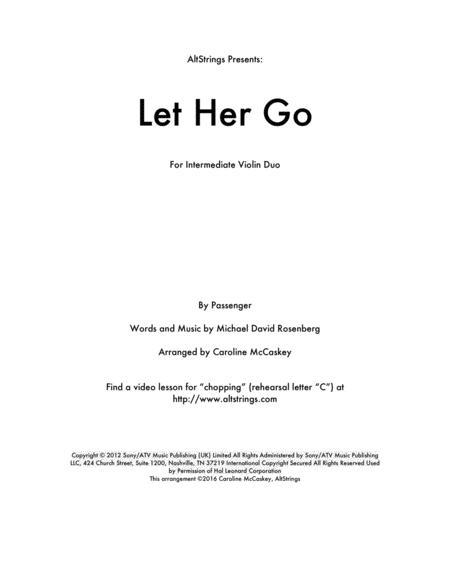 Let Her Go - Violin Duet