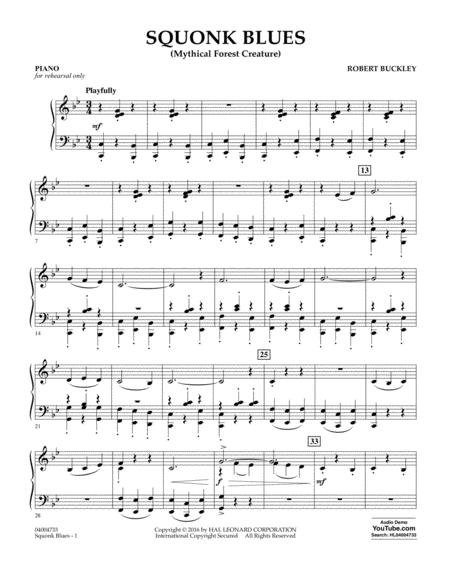Download Squonk Blues - Piano Sheet Music By Robert Buckley