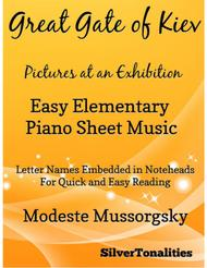 Great Gate of Kiev Easy Elementary Piano  Sheet Music