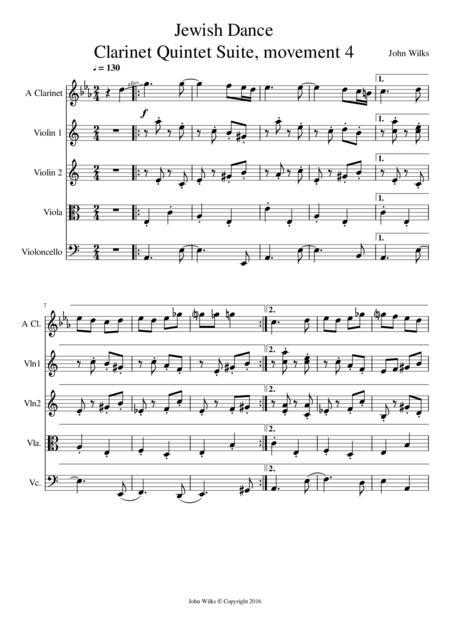 Jewish Dance - Clarinet quintet