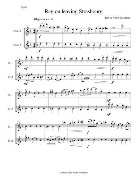 Strasbourg Rag for 2 flutes