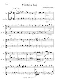 Strasbourg Rag for flute and alto flute