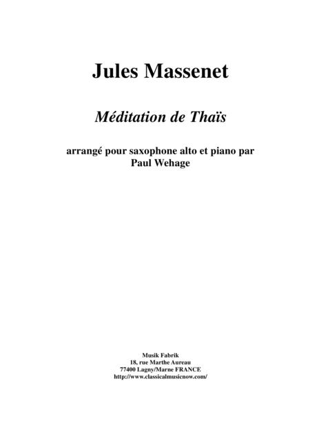 Jules Massenet: Meditation from