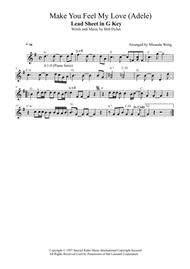 Make You Feel My Love - Tenor or Soprano Saxophone Solo