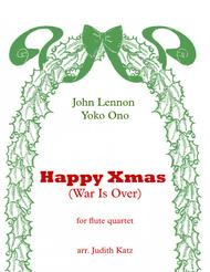 Happy Xmas (War Is Over) - for flute quartet