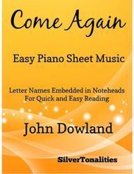 Come Again Easy Piano Sheet Music