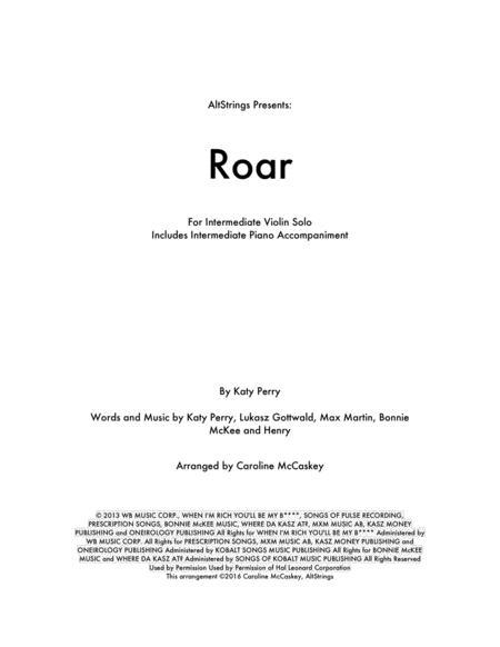 Roar - Solo Violin, Piano Accompaniment