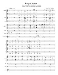 Song of Moses (Director score and Instrument parts)