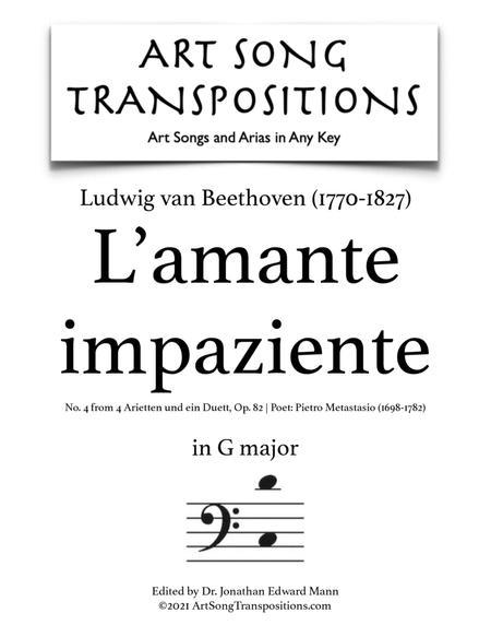 L'amante impaziente, Op. 82 no. 4 (G major)