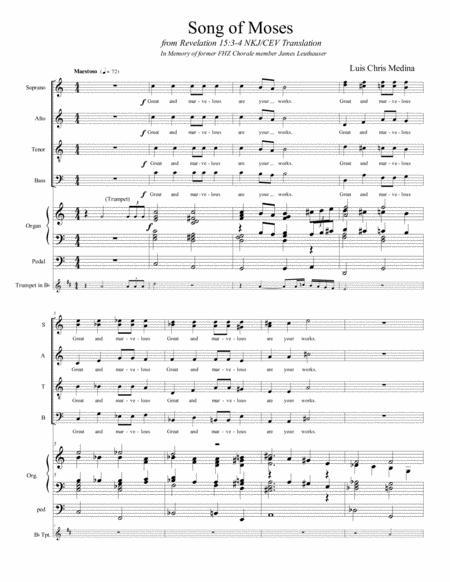 Song of Moses (Choir parts)