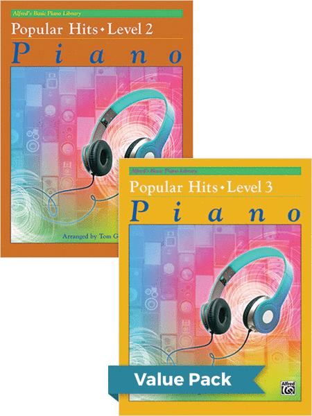 Alfred's Basic Piano Course: Popular Hits, Levels 2 & 3 (Value Pack)