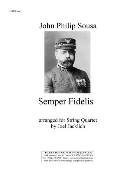 Semper Fidelis (for String Quartet)