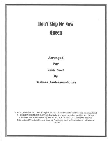 Don't Stop Me Now (Flute Duet)