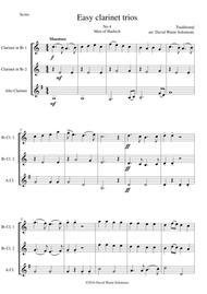 Men of Harlech (Rhyfelgyrch Gwŷr Harlech) for clarinet trio (2 B flats and 1 Alto)