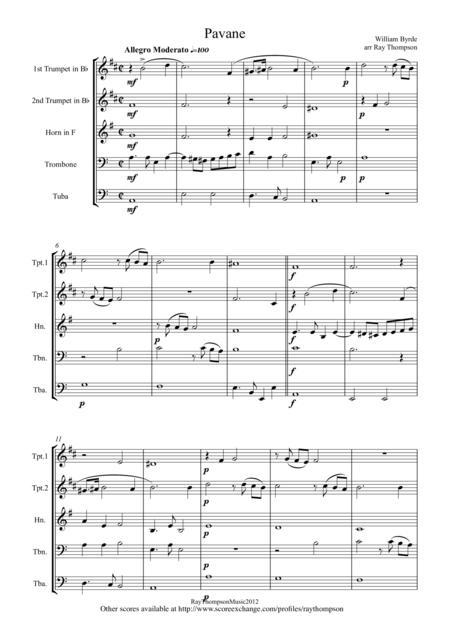 Byrd: Pavane - brass quintet