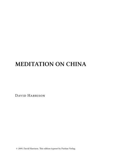 Meditation on CHINA
