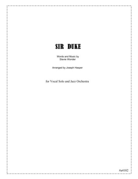 Sir Duke (Vocal and Jazz Orchestra)